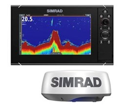 Simrad NSS Series simrad nssevo3s 9 inch amer carto with halo20 plus radar