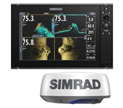 Simrad NSS Series simrad nssevo3s 12 inch amer carto with halo20 plus radar